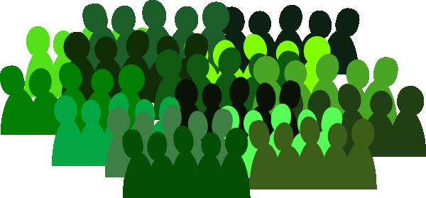 Very Green Crowd Clip Art at Clker.com.