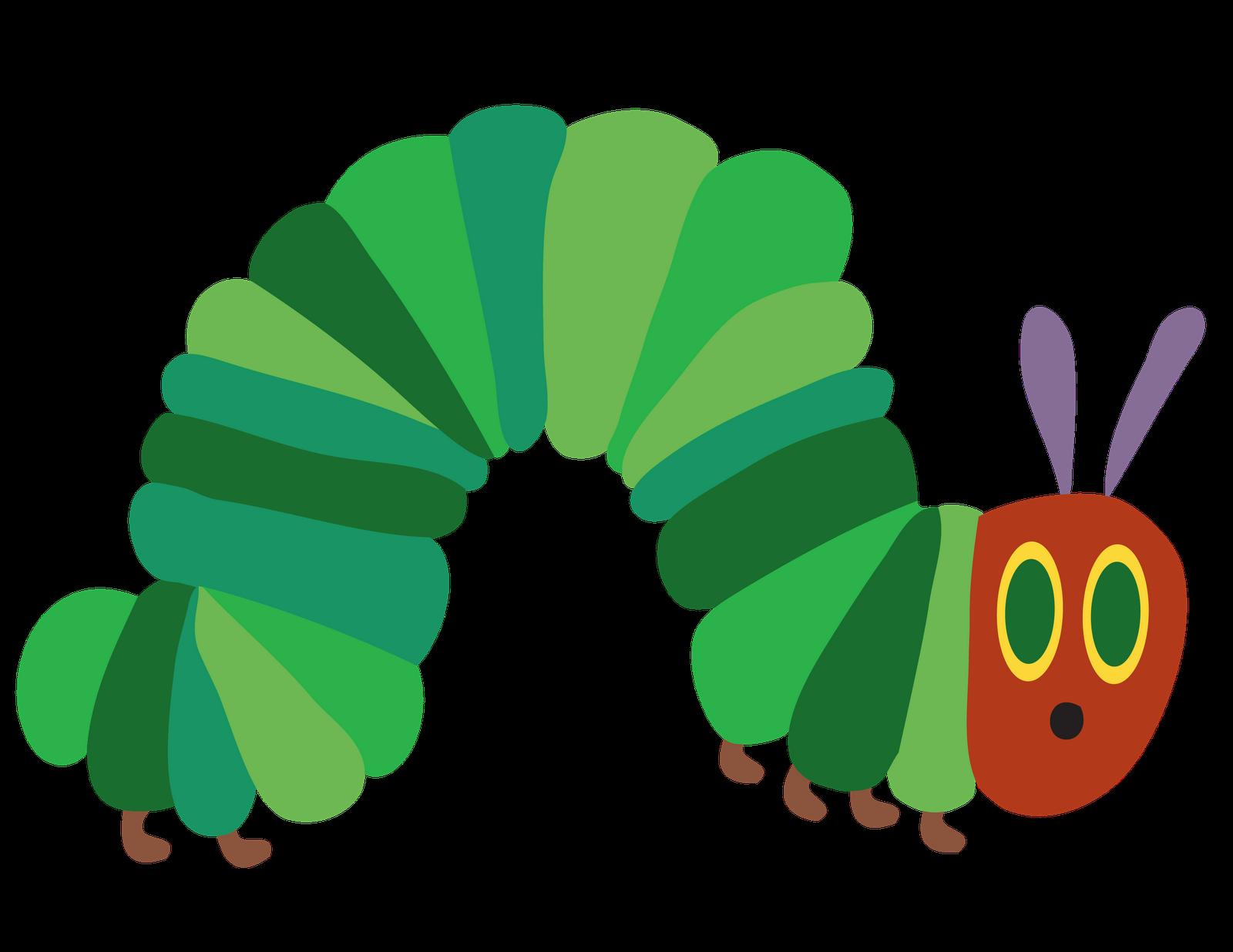 Straight green caterpillar clipart.