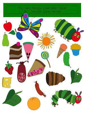 clipart for the very hungry caterpillar..