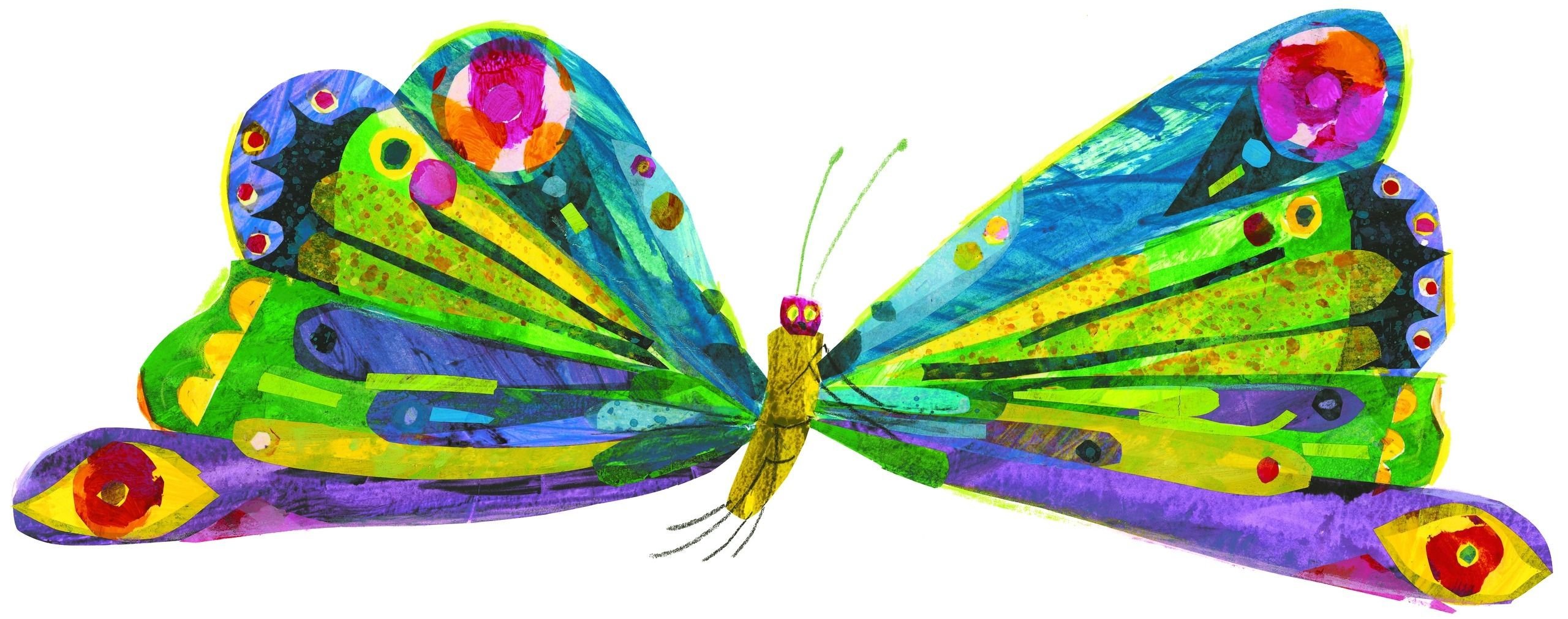 Very Hungry Caterpillar Butterfly Clipart.