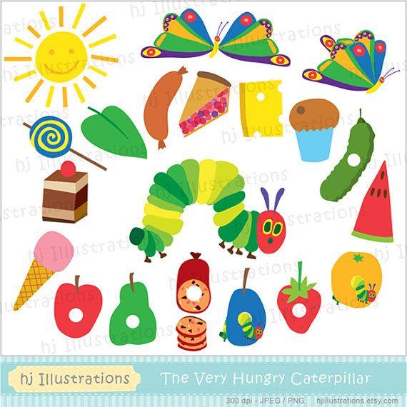 Very Hungry Caterpillar digital clipart, scrapbooking, web.