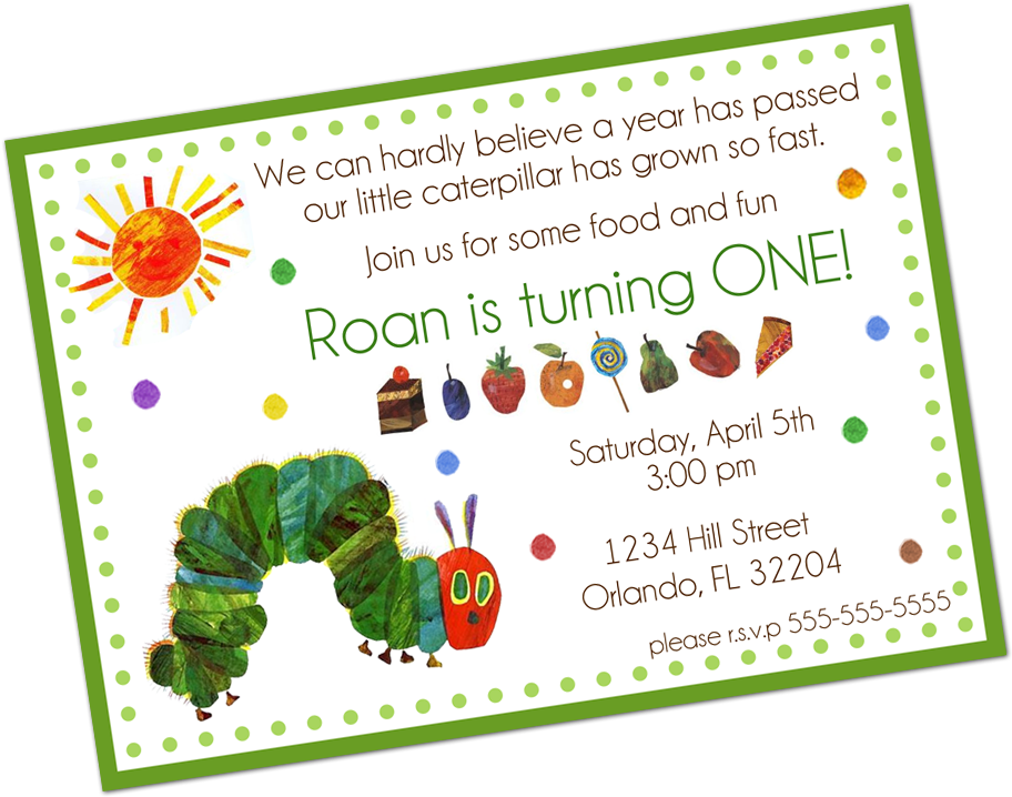 Very Hungry Caterpillar Digital Invitation Very Hungry.