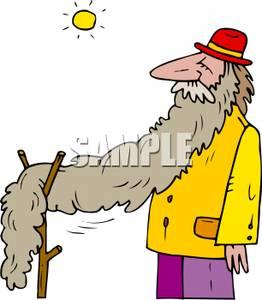 Long beard clipart.