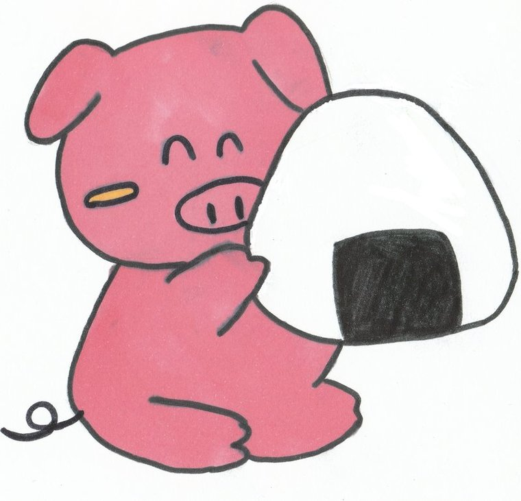 The Very Pink Pig Clipart.