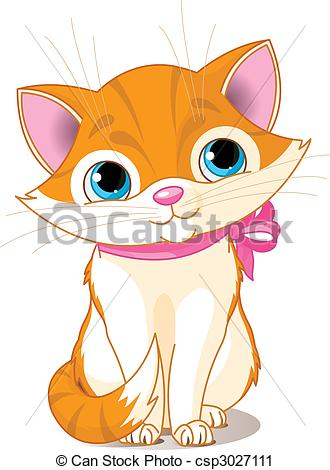 Vector Clip Art of Very Cute cat.