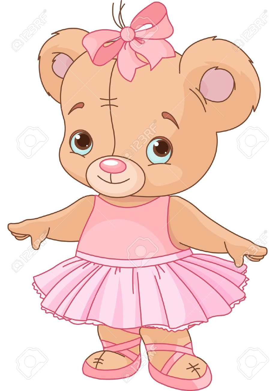 Very Cute Teddy Bear Ballerina Royalty Free Cliparts, Vectors, And.
