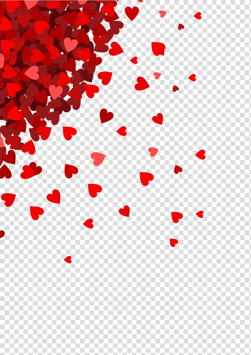 Red hearts , Very Small Hearts In Corner transparent.