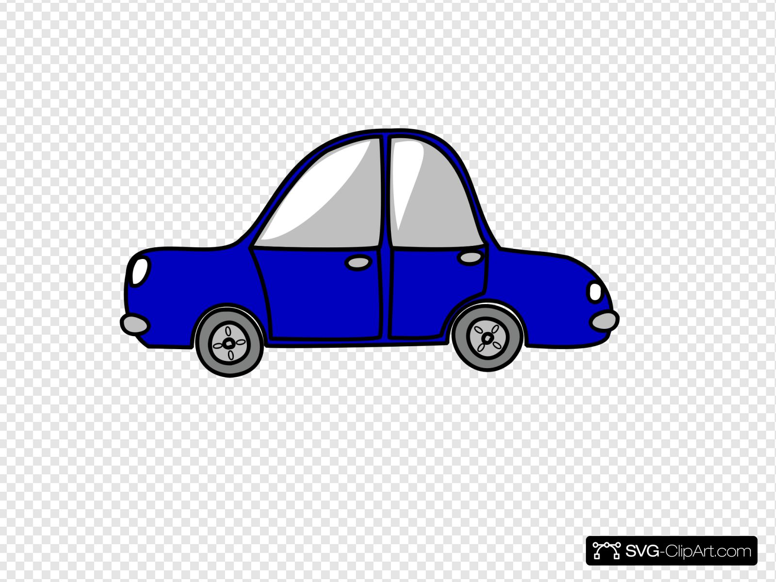 Blue Car Very Small Clip art, Icon and SVG.