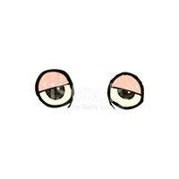 Retro Cartoon Tired Eyes stock vectors.