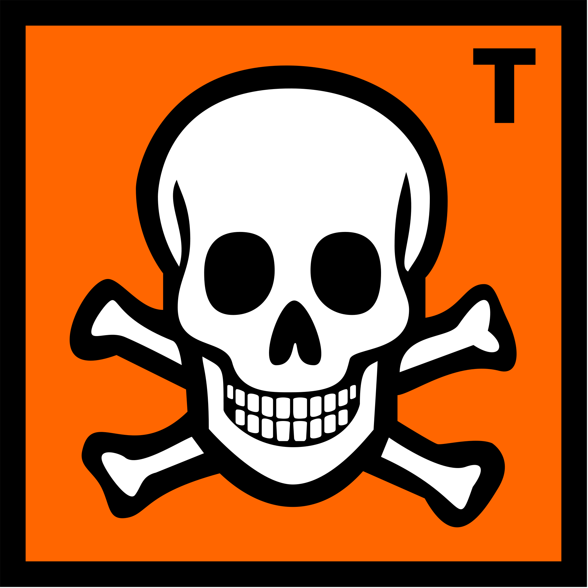 Toxic Symbol Cartoon.