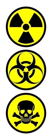 Toxic Hazard Symbol.