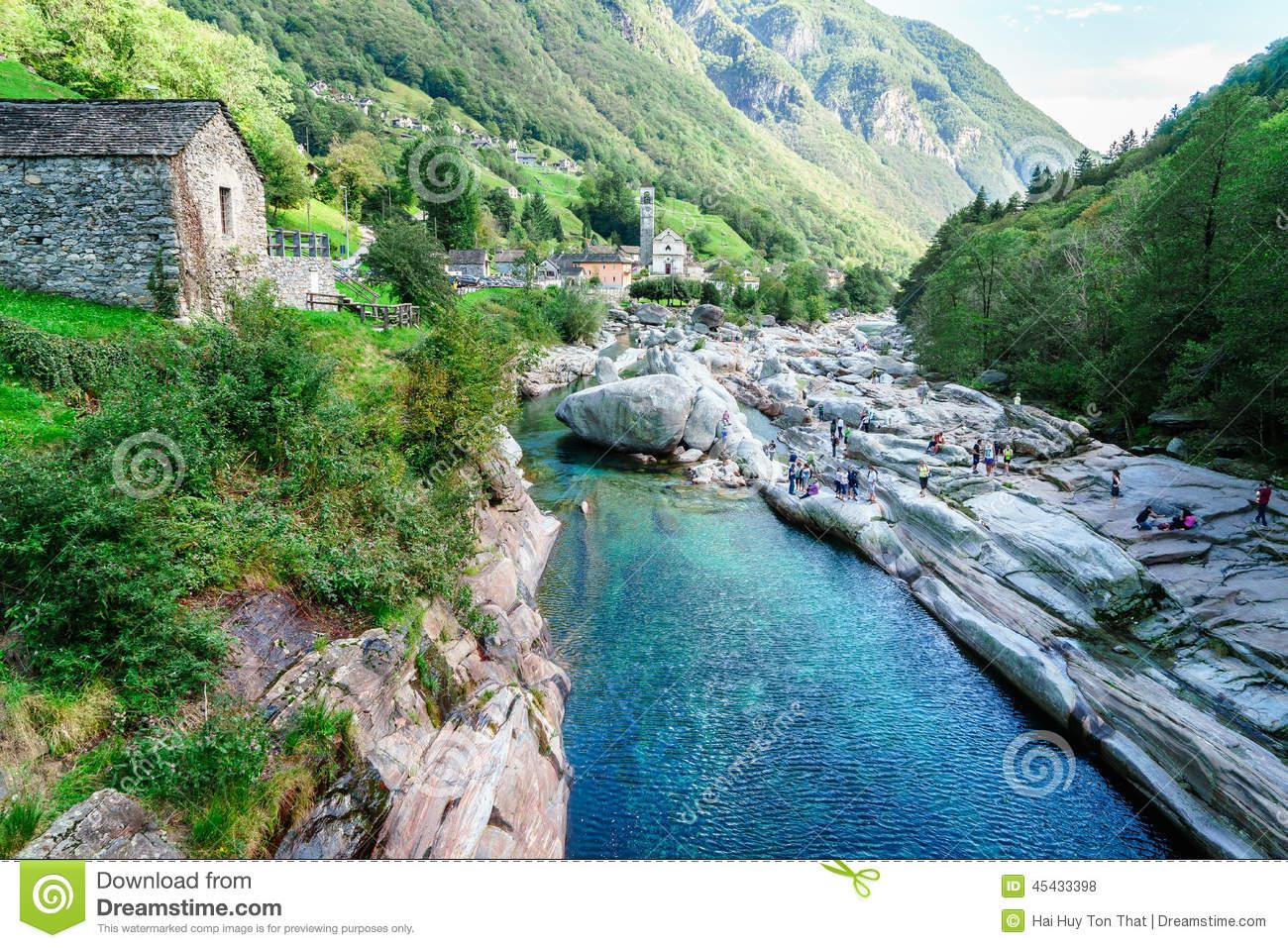 Church In Val Verzasca, Ticino, Switzerland Royalty Free Stock.