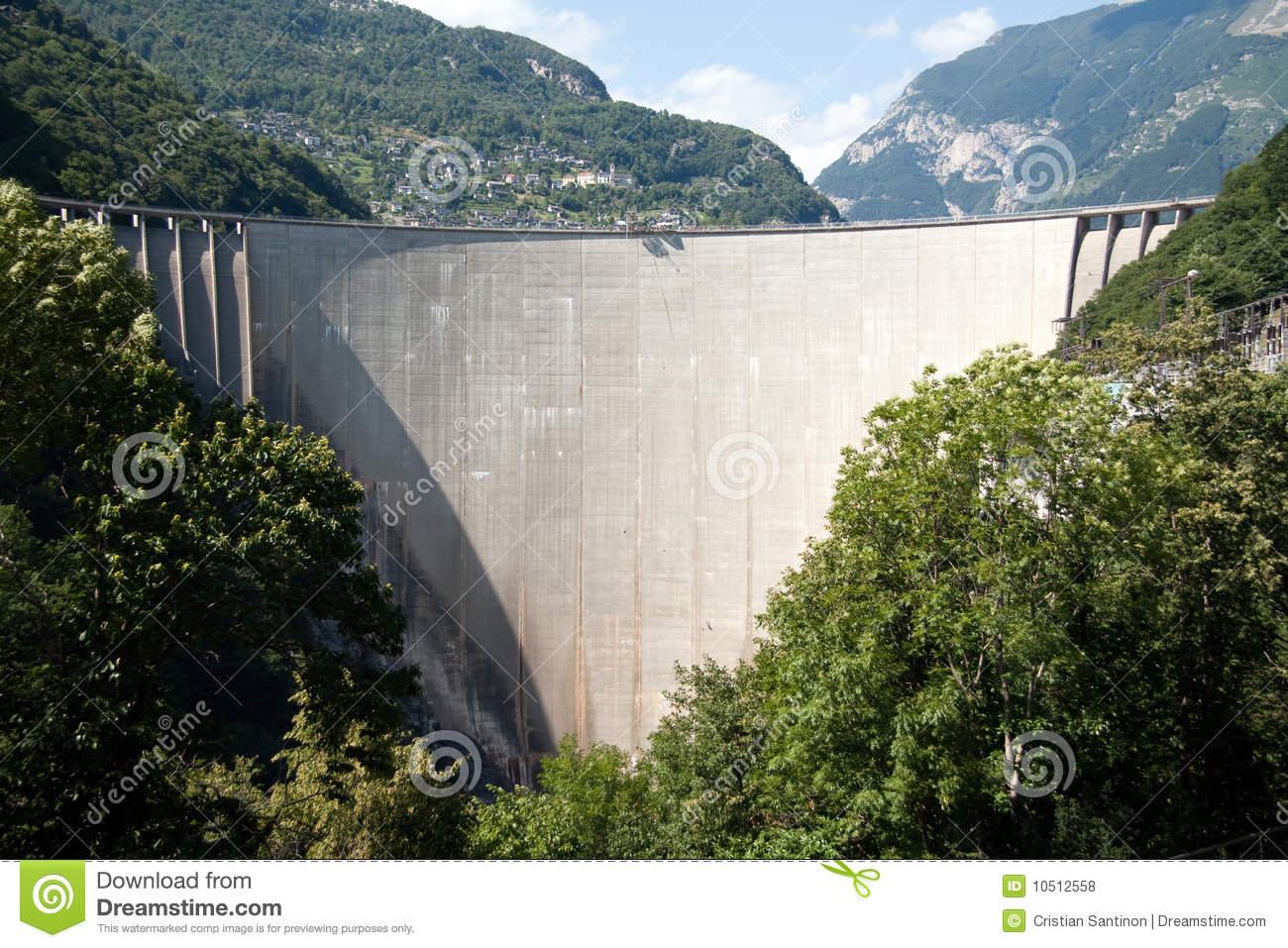 Val Verzasca Dam Royalty Free Stock Photos.