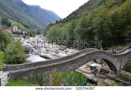 Verzasca Valley Stock Images, Royalty.