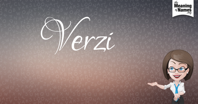 What Does The Name Verzi Mean?.