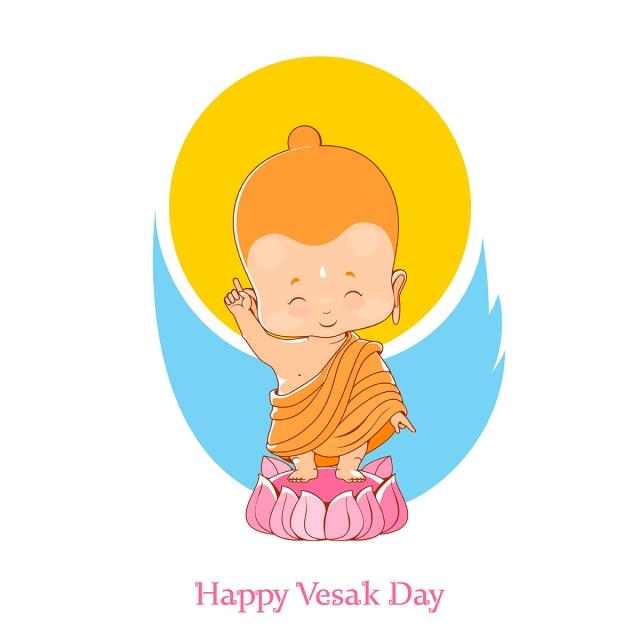 Little Buddha Birthday Vesak Day, Vesak, Buddha, Buddha Day.