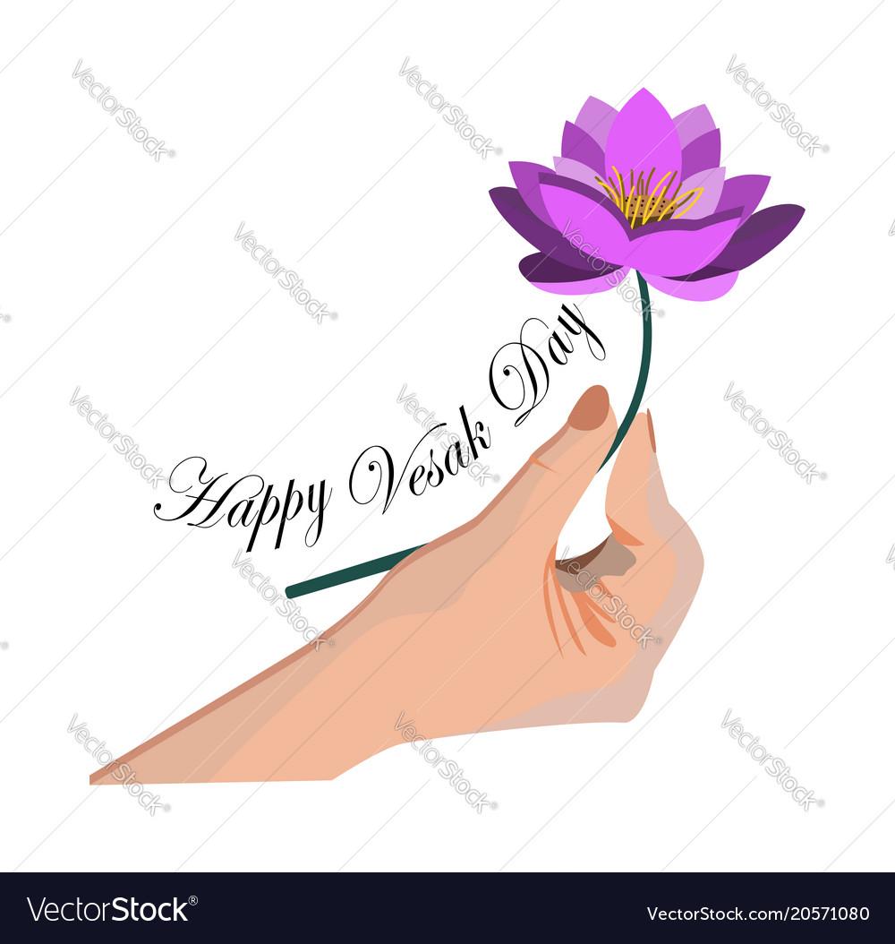 Of vesak day or buddha purnima hand.
