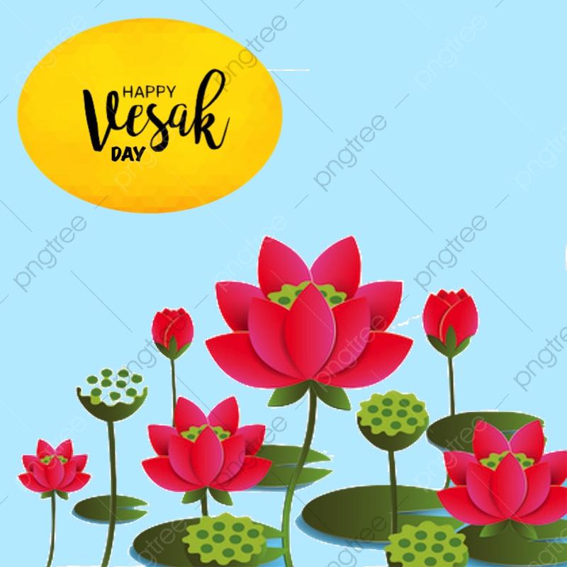 Vesak Day Greeting Vector Background Card, Happy Vesak.