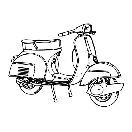 Scooter vector image.