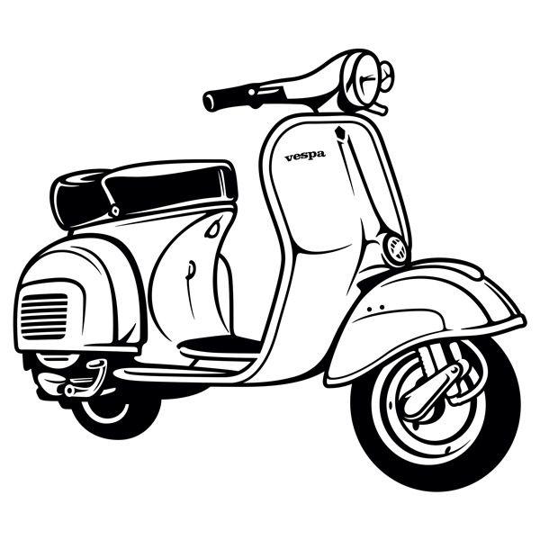Vinilos Decorativos: Moto Vespa.
