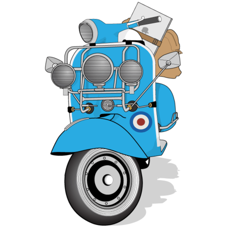 Free Vespa Scooter Clipart Picture Free Download.