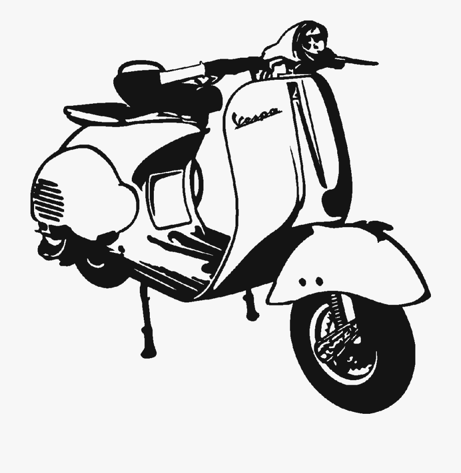 Scooter Clipart Vintage Scooter.
