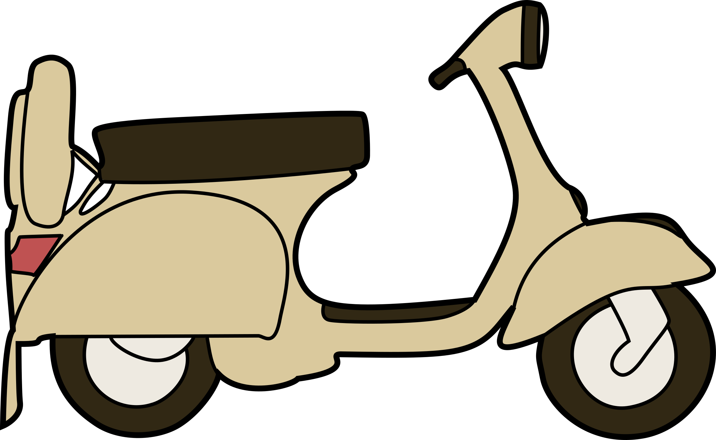 Vespa scooter vector clipart image.