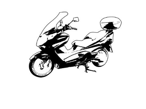 by motorbike.