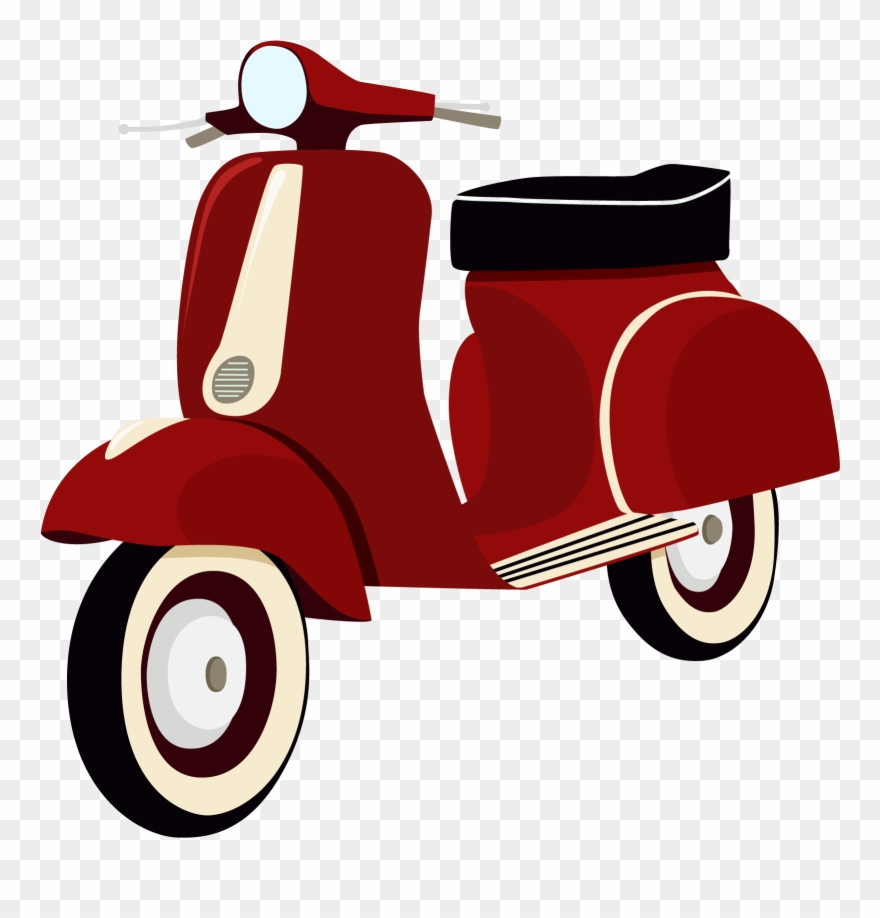 Best Free Kiss Scooter Motorcycle Helmet Vespa Vector.