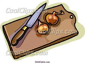 cutting board Clip Art.