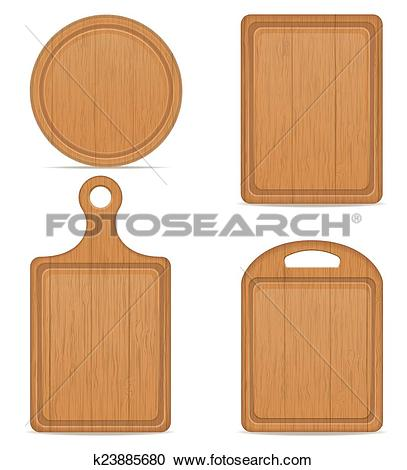 Clipart of wooden cutting board vector illustration k23885680.
