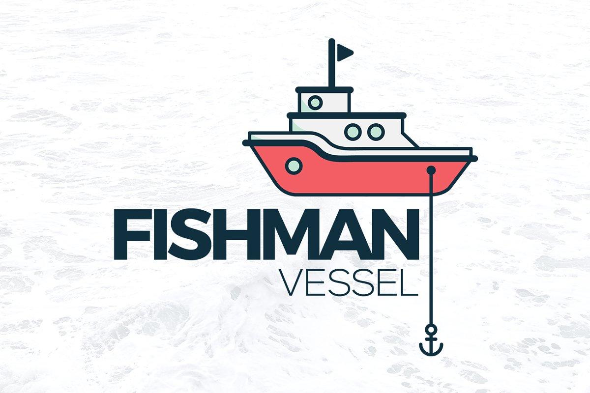 Fishing Ship Logo Boat Vessel Bay.