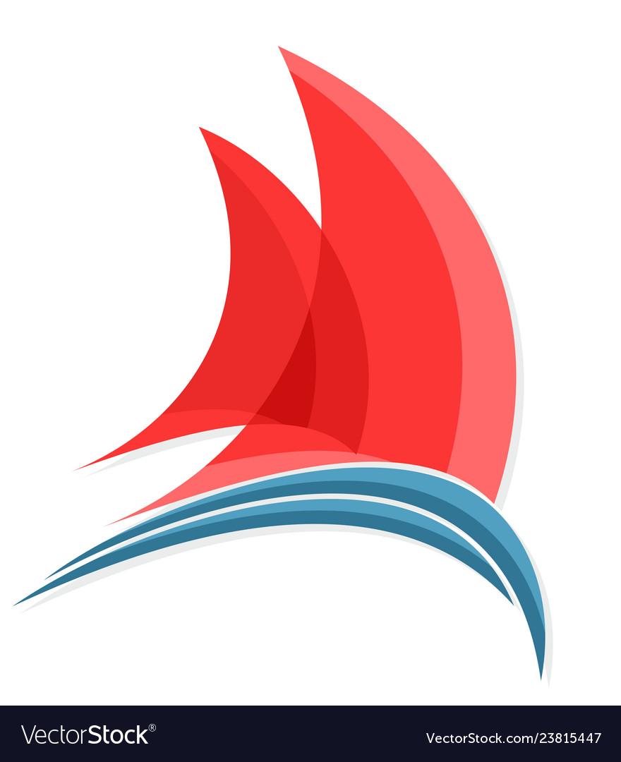 Sailing vessel logo.