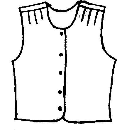 Vest clipart black and white.
