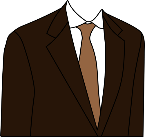 Costume marron veste vector clipart.