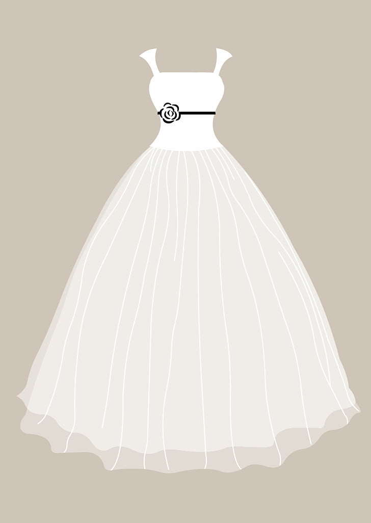 Vestido de novia de novia vestido de novia PNG Clipart.