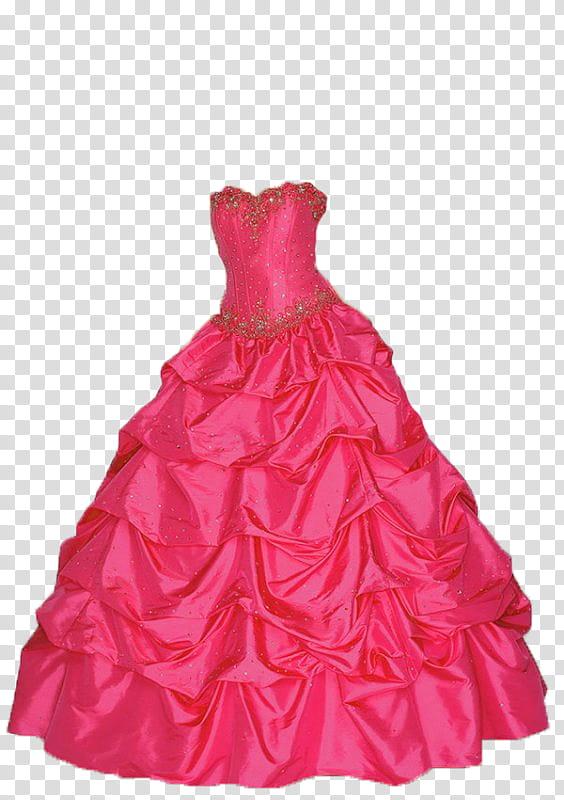 Dresses vestidos, pink ball dress transparent background PNG.