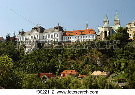Stock Photo of Hungary, Veszprém, castle f0022112.
