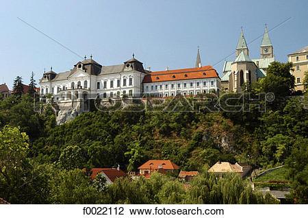 Stock Photo of Hungary, Veszprém, castle f0022112.
