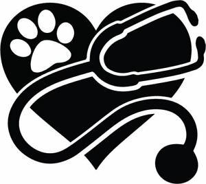 Details about Vet Decal RVT Veterinary Tech Veterinarian Pet Window Bumper  Sticker Car Decor.