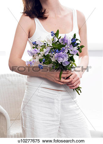 Stock Image of Bouquet of vetches and forget.