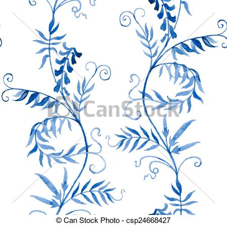 Vector Illustration of wild vetch.