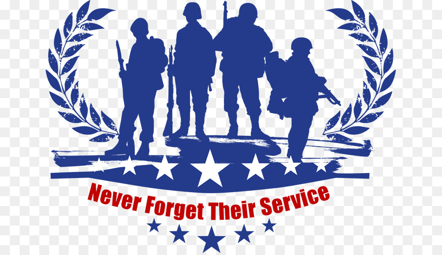 Veterans Day Blue Background clipart.