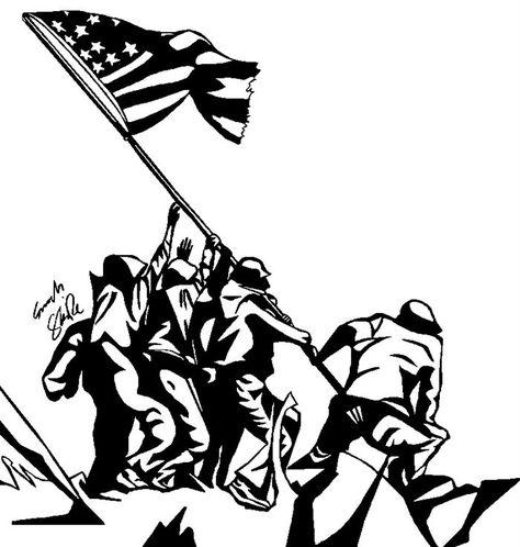 Veterans Day clip art in black and white in 2019.