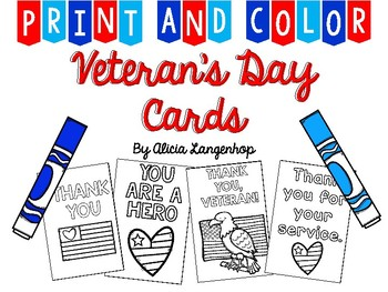 Veteran\'s Day Thank You Cards.