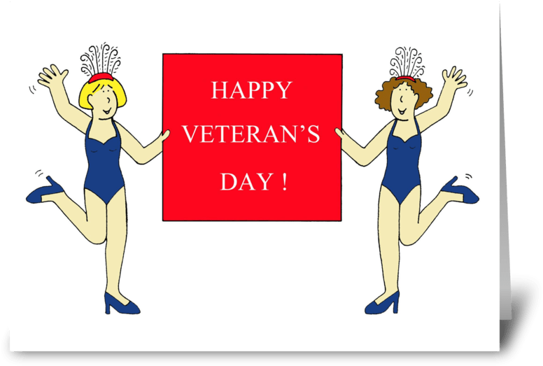Burlesque Veteran\'s Day Greeting Card.