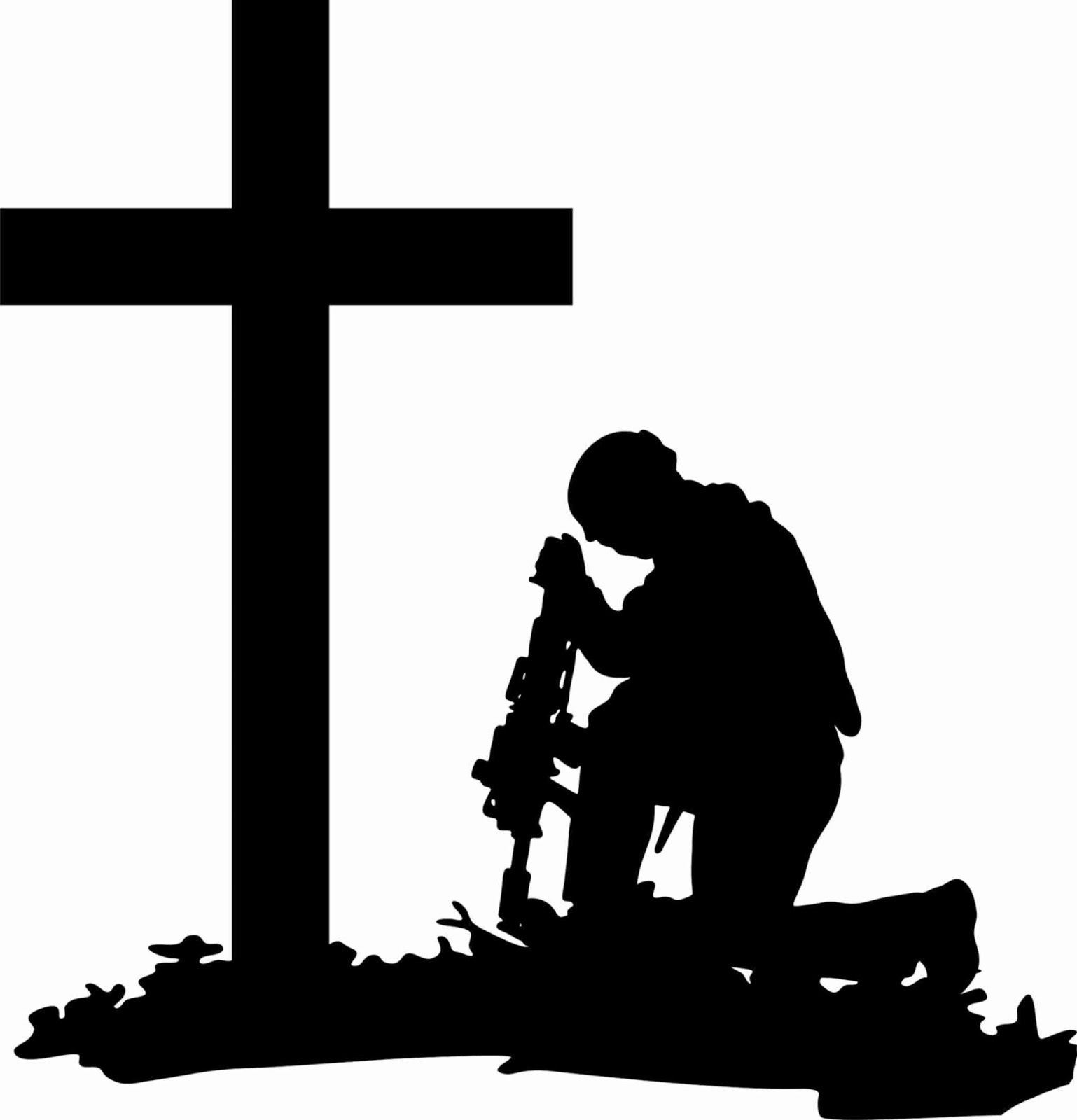 clipart soldier kneeling.