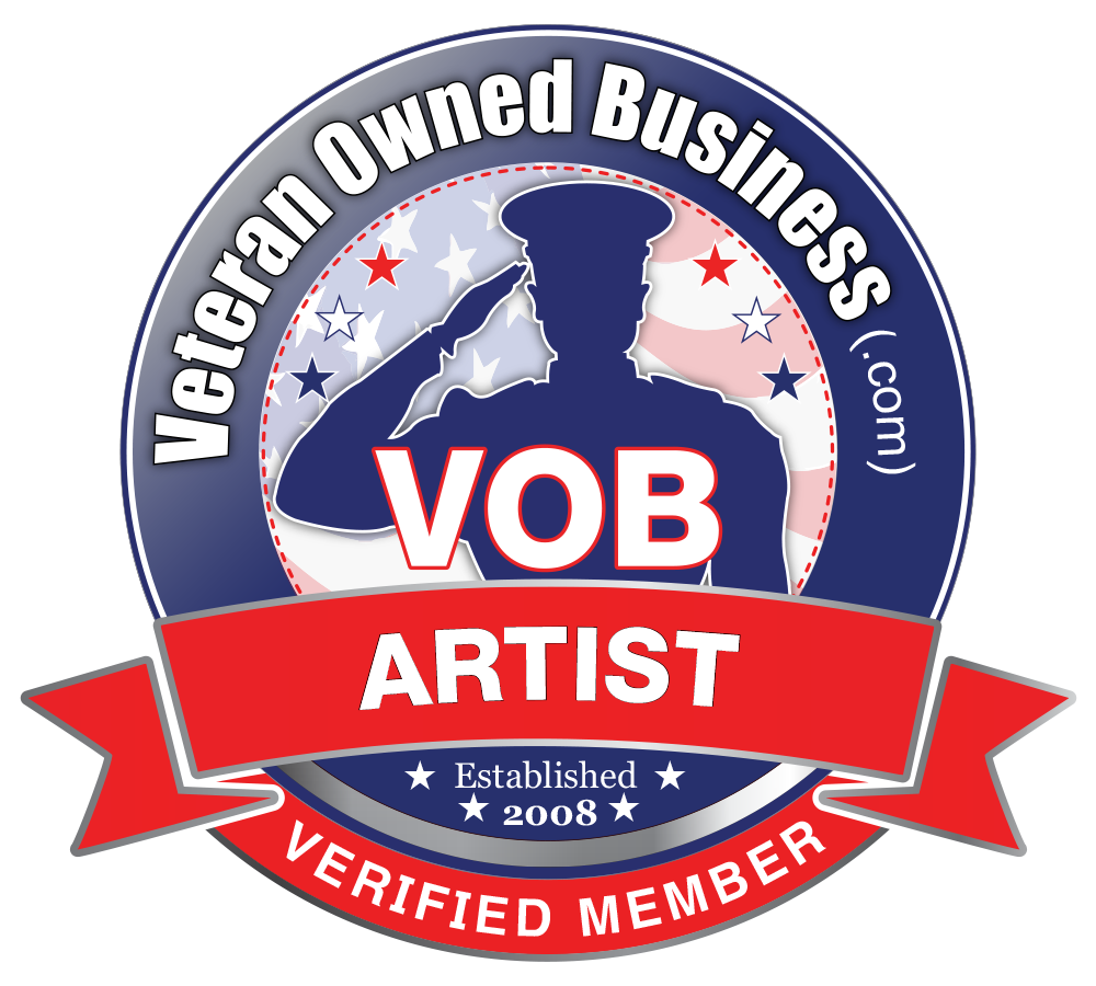 Veteran Owned Business Art and Artist Member Badges and.