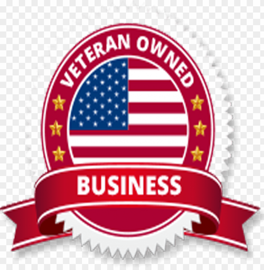 veteran owned business logo vector PNG image with.