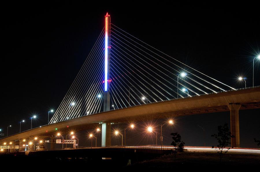 Veteran\'s Glass City Skyway On Interstate 280.